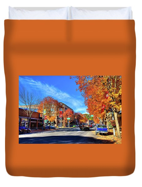 Duvet Cover featuring the photograph Autumn In Pullman by David Patterson