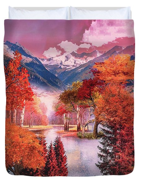 Autumn Landscape 1 Duvet Cover