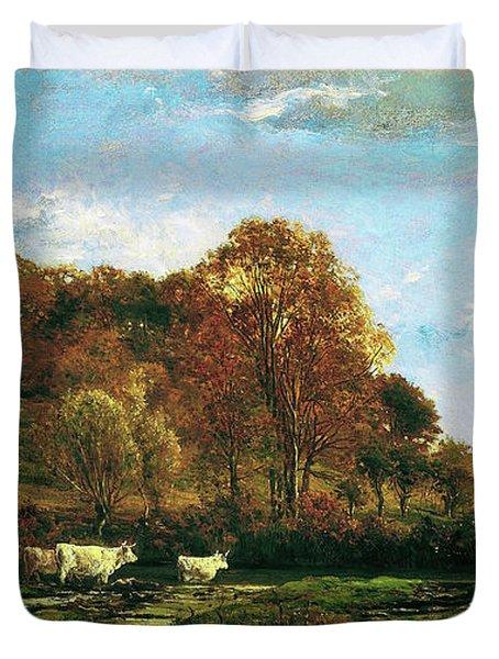 Autumn Landscape - Digital Remastered Edition Duvet Cover