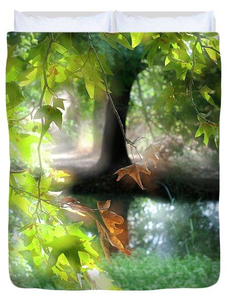Autumn Leaves In The Morning Light Duvet Cover