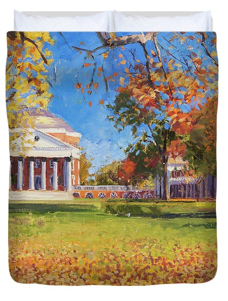 Autumn On The Lawn Duvet Cover