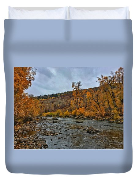 Duvet Cover featuring the photograph Autumn On The Yampa River by Dan Miller