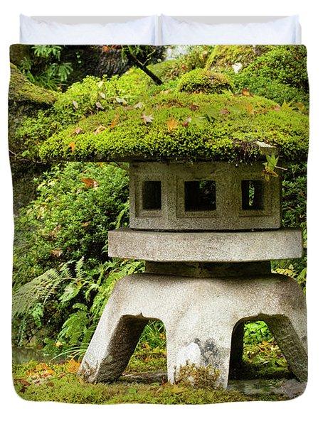 Autumn, Pagoda, Japanese Garden Duvet Cover