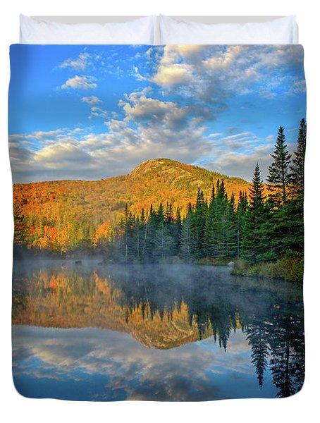 Autumn Sky, Mountain Pond Duvet Cover