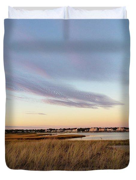 Autumn Sunset At West Dennis Beach Cape Cod Duvet Cover