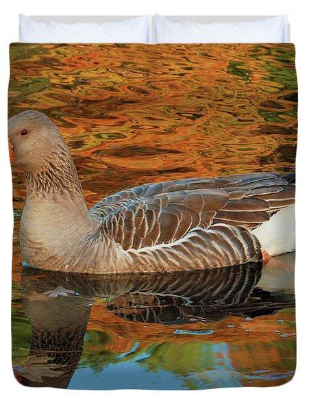 Autumn Swim Duvet Cover