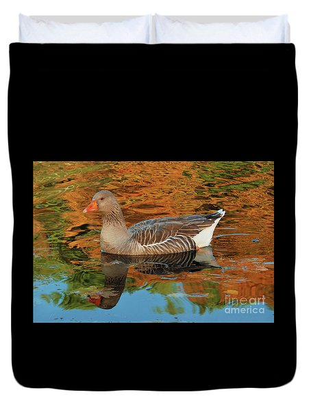 Autumn Swim Duvet Cover