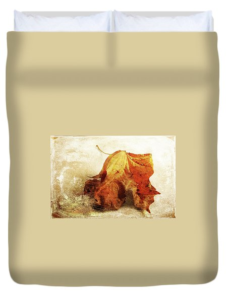 Duvet Cover featuring the photograph Autumn Texture by Randi Grace Nilsberg