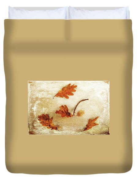 Duvet Cover featuring the photograph Autumn Twist by Randi Grace Nilsberg