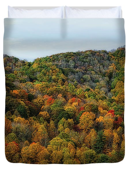 Autumn View Of The Bald Mountains  Duvet Cover