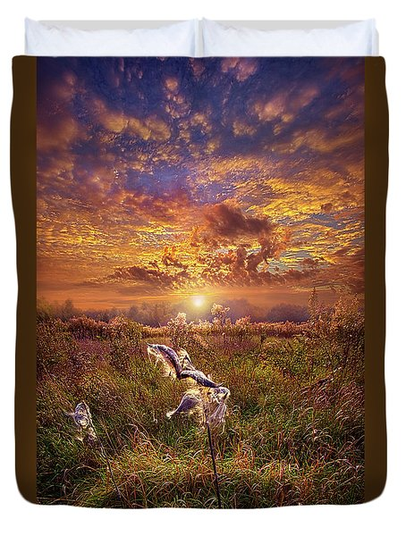 Duvet Cover featuring the photograph Autumn Wings by Phil Koch