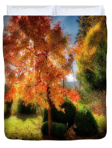 Duvet Cover featuring the photograph Autumnal Glory by Edmund Nagele