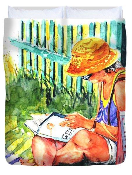 Avid Reader #2 Duvet Cover
