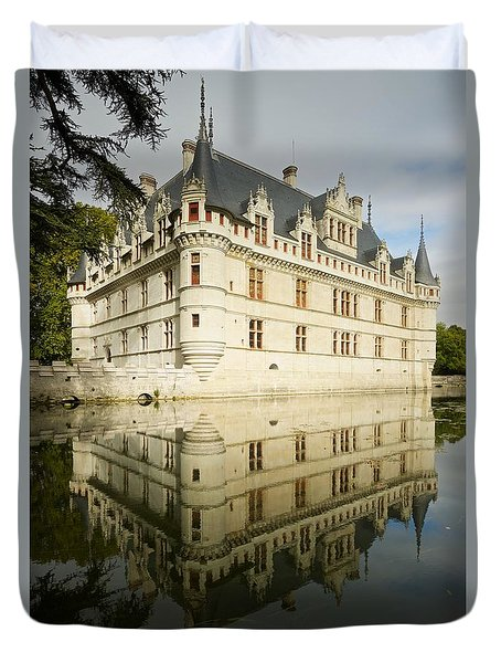 Duvet Cover featuring the photograph Azay-le-rideau by Stephen Taylor