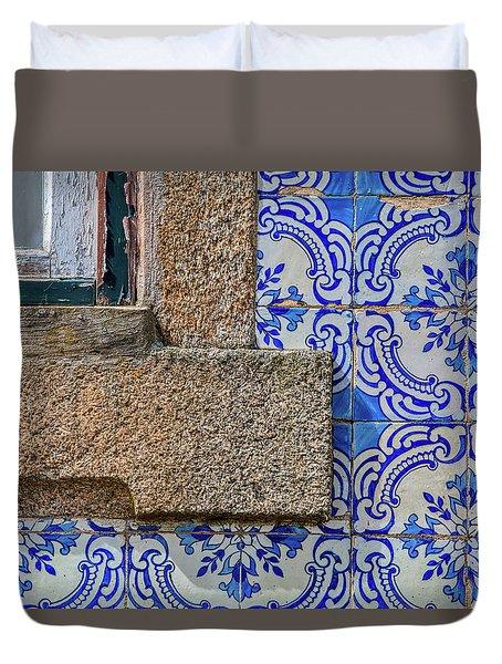 Azulejo Tile Of Portugal Duvet Cover