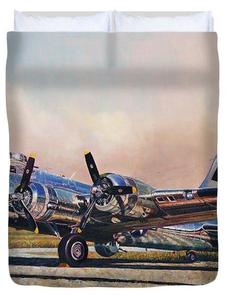 B-17g Sentimental Journey Duvet Cover