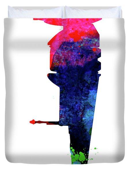 B-wing Watercolor Duvet Cover