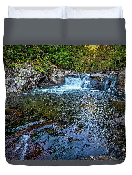Duvet Cover featuring the photograph Baby Fall Pool by Andy Crawford