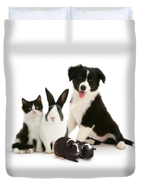 Duvet Cover featuring the photograph Back-and-white Is Alright by Warren Photographic