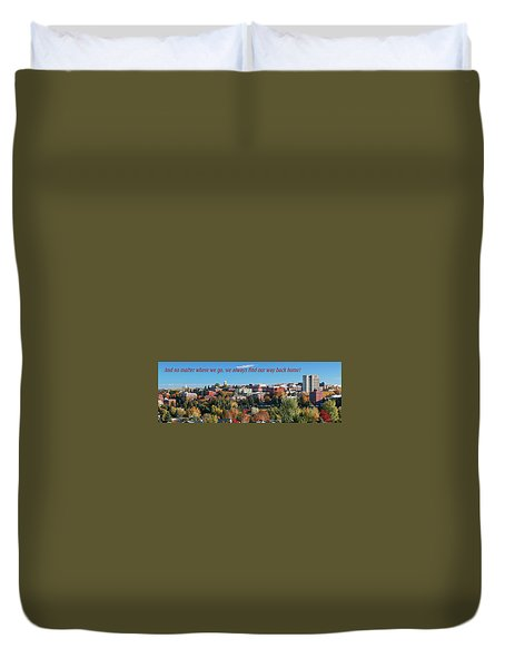 Duvet Cover featuring the photograph Back Home 2 by David Patterson