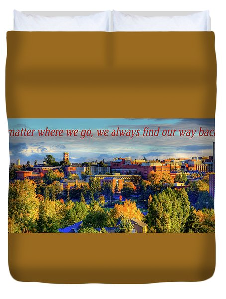 Duvet Cover featuring the photograph Back Home 3 by David Patterson