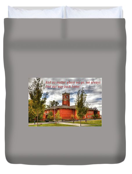 Duvet Cover featuring the photograph Back Home by David Patterson