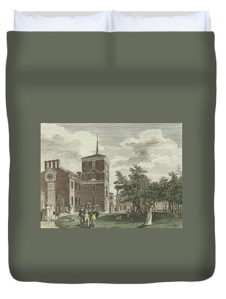 Back Of State House Duvet Cover