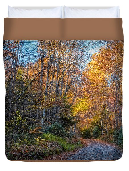 Duvet Cover featuring the photograph Back Road Beauty by Russell Pugh