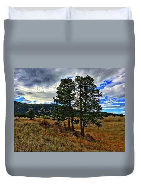 Duvet Cover featuring the photograph Backlit Pine by Dan Miller