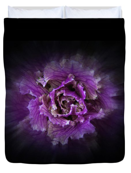 Duvet Cover featuring the photograph Backyard Flowers 42 Color Flow Version by Brian Carson