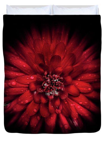 Backyard Flowers 45 Color Flow Version Duvet Cover