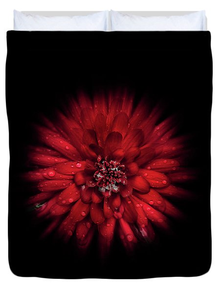 Duvet Cover featuring the photograph Backyard Flowers 45 Color Flow Version by Brian Carson