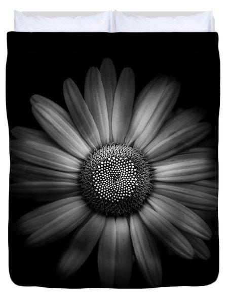 Backyard Flowers In Black And White 31 Duvet Cover