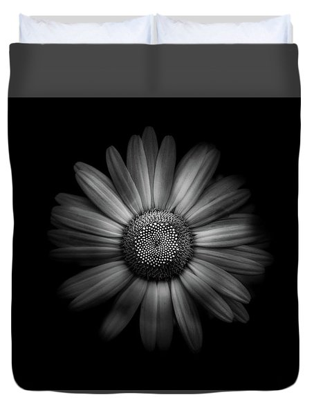 Duvet Cover featuring the photograph Backyard Flowers In Black And White 31 by Brian Carson