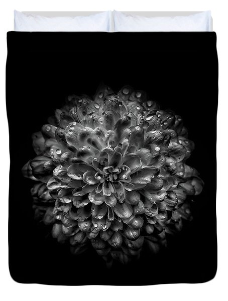 Duvet Cover featuring the photograph Backyard Flowers In Black And White 46 by Brian Carson