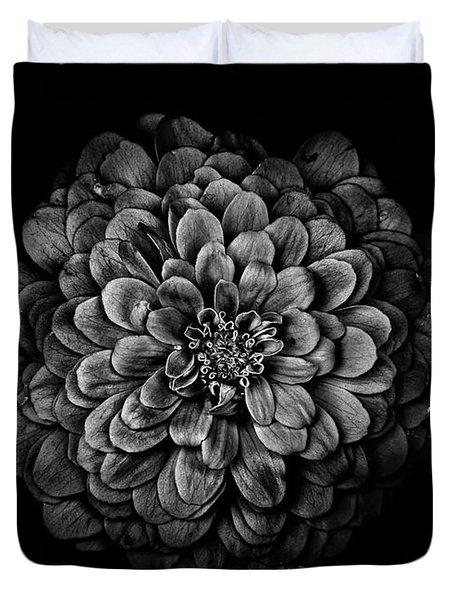 Backyard Flowers In Black And White 54 Duvet Cover