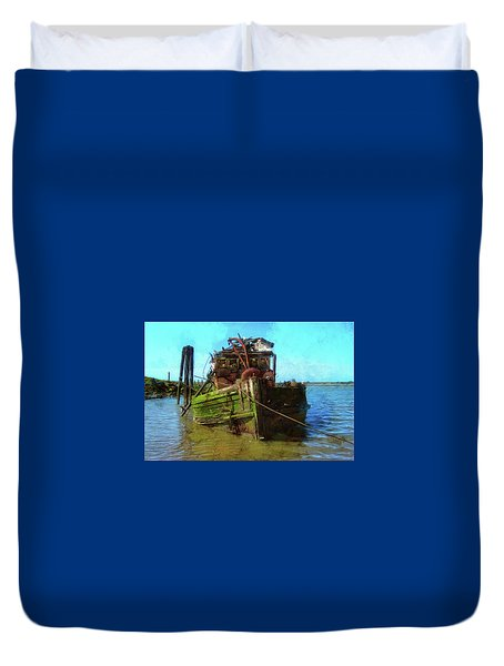 Bad Water Day Duvet Cover