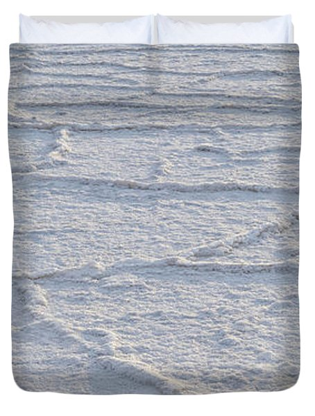 Badwater Basin Salt Flats Death Valley National Park Ca Duvet Cover
