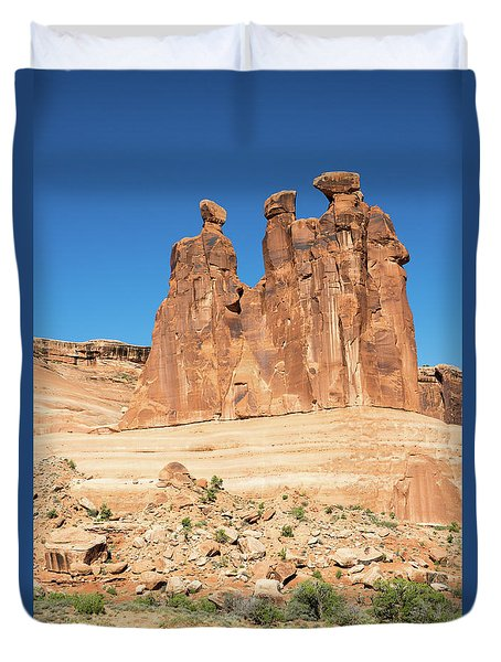Balanced Rocks In Arches Duvet Cover