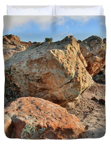 Balanced Rocks In Bentonite Site Duvet Cover