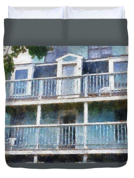Balconies Marthas Vineyard Cape Cod Massachusetts Pa Duvet Cover