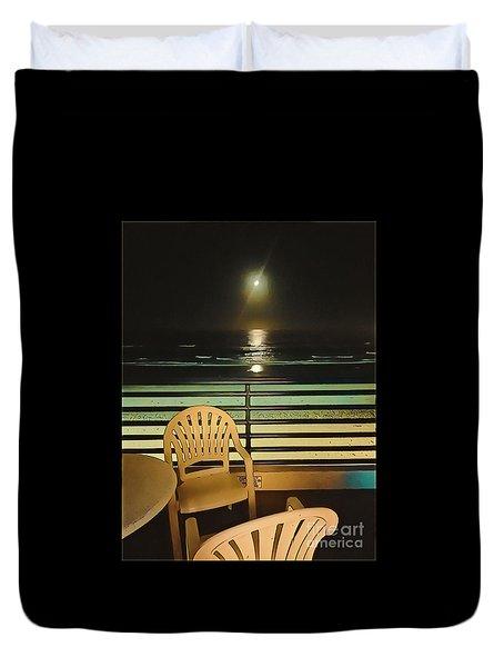 Balcony On The Pacific Oceanside California  Duvet Cover