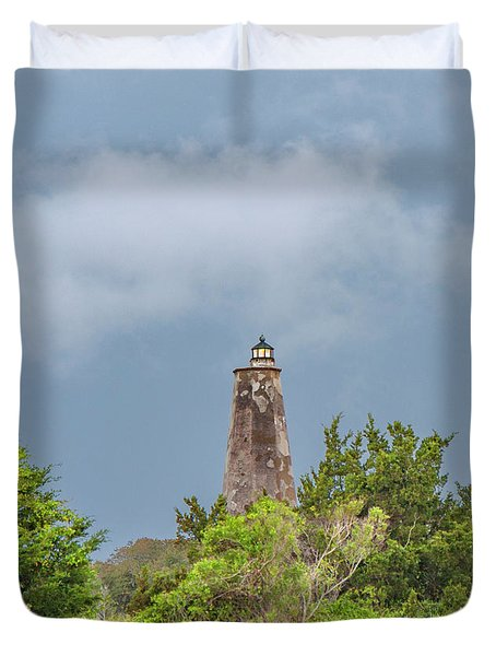 Bald Head Island Lighthouse Duvet Cover
