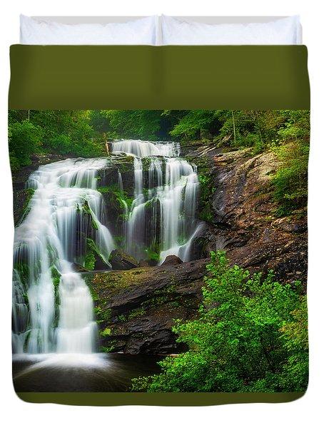 Bald River Falls Duvet Cover