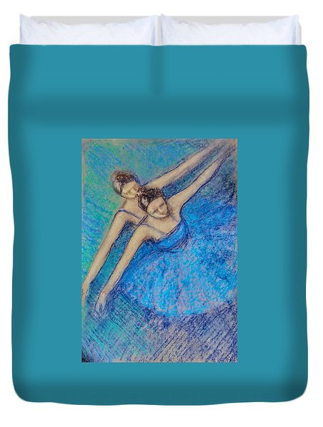 Duvet Cover featuring the painting Ballerina by Asha Sudhaker Shenoy