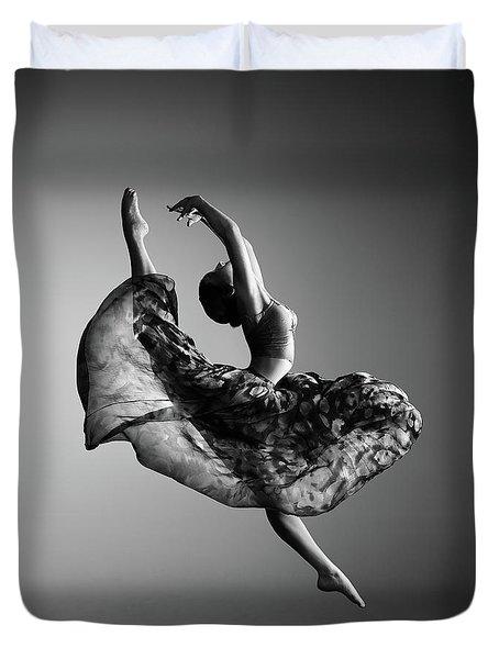 Ballerina Jumping Duvet Cover