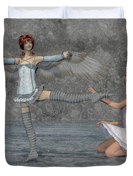Ballerina Sisters Duvet Cover