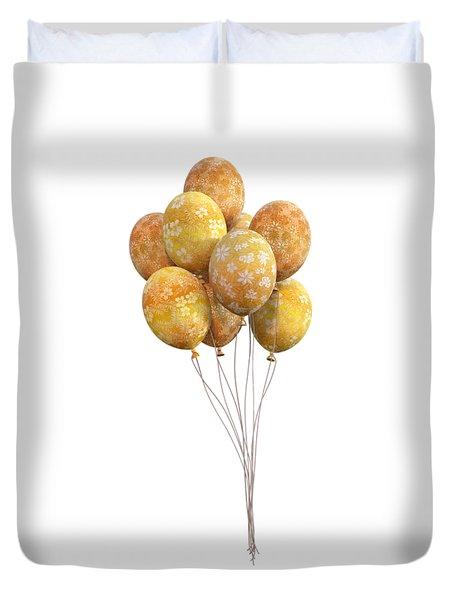 Balloons Golden Duvet Cover