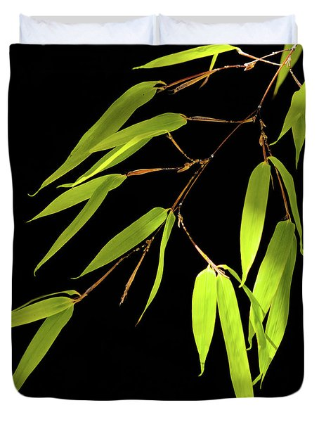 Bamboo Leaves 0580a Duvet Cover