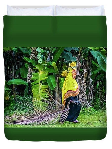 Banana Harvest, Zanzibar, Tanzania Duvet Cover